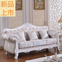 欧式布艺沙发组合客厅整装1+2+3小户型网红服装店简欧三人位沙发定制