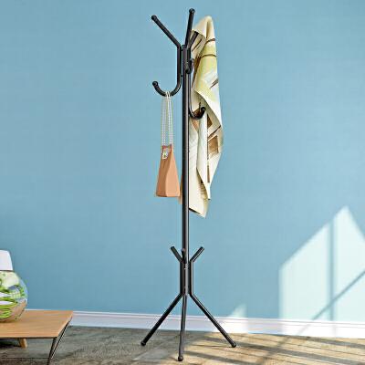 索尔诺 卧室铁艺金属衣帽架 落地时尚衣服架 挂衣架03Y三角定义支撑  稳固耐用  安装简易