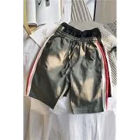 休闲短裤男夏季五分裤简约休闲沙滩裤宽松条纹运动裤子男