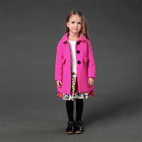 夹棉加厚女童2018新款毛呢大衣宝宝呢子长袖外套儿童冬季呢子欧美