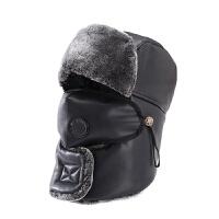 帽子男士冬季皮帽冬天青年东北户外防风加厚保暖棉帽骑车滑雪新品 可调节(男女同款)