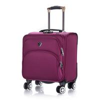 18寸登机箱小拉杆箱万向轮男士行李箱电脑皮箱小旅行软箱牛津布女 18寸