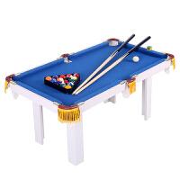 儿童台球桌 家用大号桌球台 美式斯诺克迷你台球桌 小型儿童玩具生日礼品木制桌球台 红色