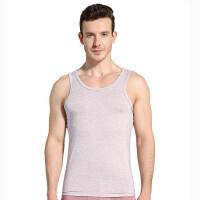 夏季新款男士莫代尔背心时尚个性透气修身紧身运动健身跨栏汗衫