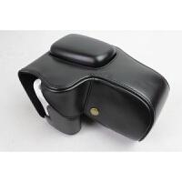 佳能单反200D相机皮套100D 18-55底座镂空保护套相机包皮套掏电池 200D普通版-黑色 无肩带 单皮套