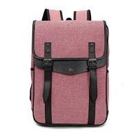 15寸15.6寸笔记本电脑包双肩包男女士大学生书包韩版休闲旅行背包SN5940 西瓜红 15.6英寸