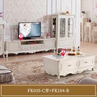 欧式茶几电视柜组合实木小户型电视机柜客厅地柜家具套装 组装