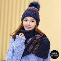 帽子女韩版潮时尚针织帽保暖毛线帽子护耳帽围巾女潮