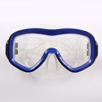 新品游泳潜水镜飞浪高清晰宽广视野钢化大框架舒适型蓝色泳镜新品