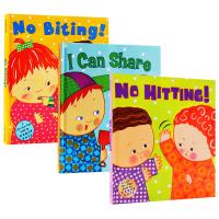 No Hitting biting I Can Share 卡伦卡茨社交生活习惯3本 英文原版绘本 Karen Katz