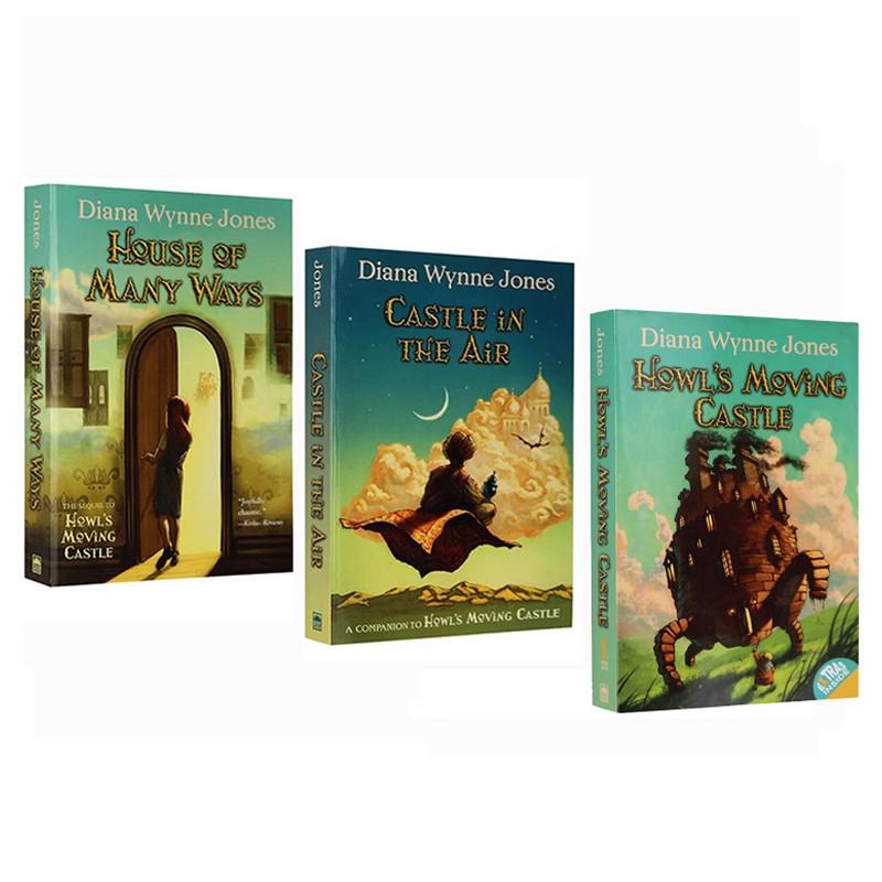 英文原版 Howl's Moving Castle 哈尔的移动城堡小说三部曲 3册合售 Diana Wynne Jones 儿童英语桥梁章节书 Castle in the Air
