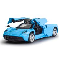帕加尼两开门仿真合金车模型声音灯光回力儿童玩具车
