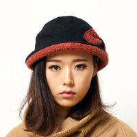 时尚毛呢礼帽子圆顶保暖女士羊毛帽子女秋冬季帽子女