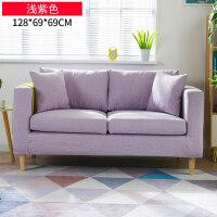 北欧布艺沙发小户型现代简约租房客厅整装单人双人三人卧室小沙发