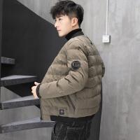 秋冬新款时尚男士加厚保暖棉衣潮流休闲棉服外套