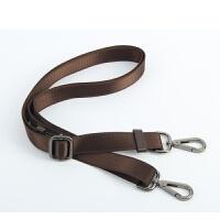 新款黑色男包包带子 肩带斜挎包包带子配件背包带子 包包肩带电脑 2.5厘米宽 棕带枪黑钩