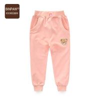 BINPAW女中大童运动裤 春装新款时尚休闲卡通收口女中大童针织裤