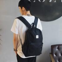 男生双肩包潮韩版学院风初中生书包时尚休闲青少年电脑背包旅行包