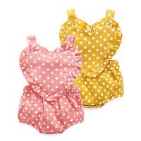 背心背带裤宝宝婴儿连体衣服岁个月新生儿外出衣服春装1岁