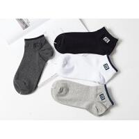 夏季薄棉男士短船袜子 棉低帮运动袜无骨棉透气棉袜5双装 均码