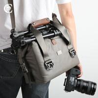 单反相机包单肩手提 佳能尼康摄影镜头包 保护包 男女防盗防水