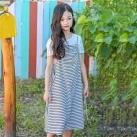 女大童沙滩裙女童海边度假韩版时尚休闲吊带长裙儿童夏装连衣裙子