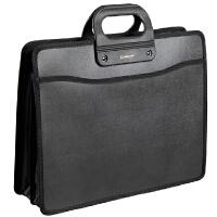 齐心A1331 事务包 公文包 手提包 B4 黑色文件包