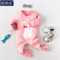 婴儿连体衣服宝宝新生儿长袖冬季0岁3个月棉宝宝装春装6