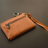 手拿小零钱包迷你拉链硬币女士手腕双层多功能短款散钱袋 驼色