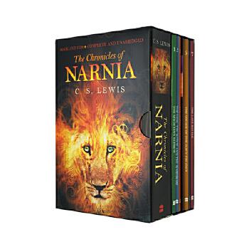 纳尼亚传奇全集 英文原版小说 The Chronicles of Narnia 7 Book and Audio Box Set 附CD 纳尼亚传奇:狮子、女巫和魔衣橱