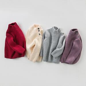davebella戴维贝拉男童秋冬季针织套头毛衣 宝宝针织打底衫DB4256