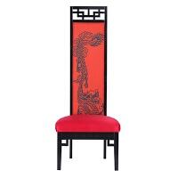 新中式酒店实木餐椅家用大厅门厅简约形象椅单人高背椅靠背官帽椅