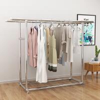 【新品特惠】阳台晾衣架落地折叠室内家用双杆式不锈钢挂衣架晾衣杆卧室晒衣架 1个