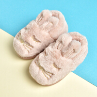 儿童棉拖鞋女冬季可爱居家室内卡通包跟宝宝棉鞋女童男童