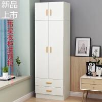 简易北欧组装衣柜简约现代经济型两门小衣柜橱柜抽屉柜定制 2门