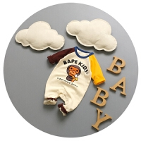 婴儿衣服春秋新生儿连体衣秋装3-6纯棉宝宝卡通爬爬服哈衣潮0-1岁