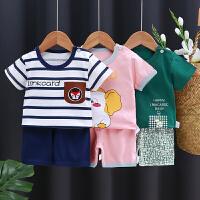 夏季宝宝短袖套装婴儿衣服小童儿童夏装男童短裤女童3岁