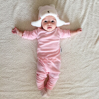 婴儿套装0岁3个月男童冬装加绒加厚女童宝宝洋气衣服春秋装