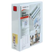 齐心A235 易展示3孔D型夹 2寸美式三面插袋 A4文件夹容纸量500张