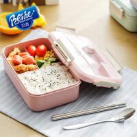 日式儿童分格保温饭盒便当盒女学生带盖韩国可爱食堂简约餐盒餐盘