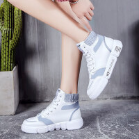 平底嘻哈街拍透气短靴马丁靴街舞鞋高帮运动女韩版小白鞋