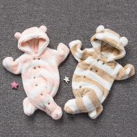 婴儿连体衣服冬季0岁月加厚宝宝童新生儿冬装可爱睡衣新年