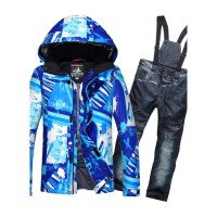 2018户外滑雪服男套装 冬季防水加厚保暖单双板男士韩版滑雪衣裤