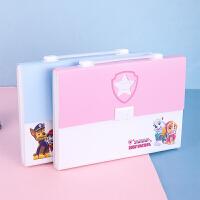 得力风琴包5876 A4-13格插袋风琴包时尚彩色办公手提文件包公文包 学生用品