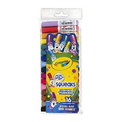 保税区发货 Crayola绘儿乐 16色可水洗短杆粗头马克笔 水彩笔套餐组  3岁以上 海外购 16色可水洗短杆粗头马克笔