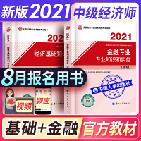 备考2021 中级经济师2020教材 金融专业2本套 经济师中级2020 金融专业 经济师考试教材 经济基础知识与金融实