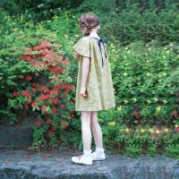 韩版童装女童连衣裙儿童沙滩裙海边度假纯棉短袖宝宝夏季宽松裙子