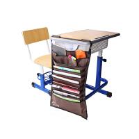 得力(deli) 72365 多功能可调课桌挂袋 学生书本收纳袋/挂架/挂书袋 棕色 当当自营