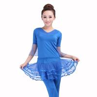 成人广场舞蹈服装 春夏款纱袖拉丁舞服装练功服广场舞蹈服演出服表演服