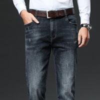 满198减50 夏季薄款直筒宽松牛仔裤男士伯克龙男装中高腰深裆商务休闲长裤子WN8029